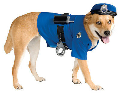 Dog Police Officer Costume Puppy Cop Sheriff Pet Halloween Large L Dress Up NEW