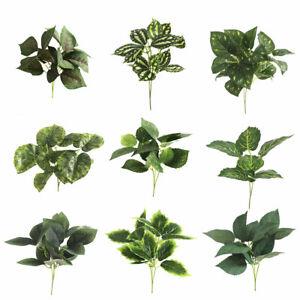 Am-Artificial-Plants-Fake-Leaf-Foliage-Bush-Indoor-Outdoor-Home-Garden-Decor-No