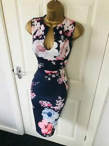Summer-Navy-Blue-Floral-Evening-Occasion-Races-Bodycon-Midi-Wiggle-Dress-65