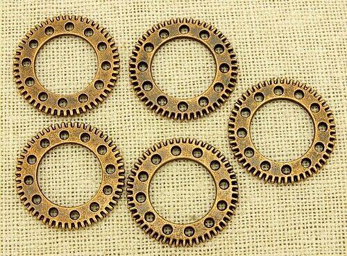 25x25x2mm cobre colores 5stk Steampunk engranajes Clockwork aprox