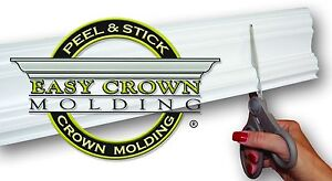 "4"" Peel & Stick Easy Crown Molding 85' Kit makes 20 inside corners."