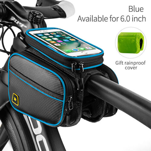 Cycling Bike Front Top Tube Frame Bag MTB Bicycle Waterproof Phone Holder Case