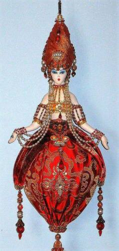 """FAERIE MOUSE~MISS MYRTLE MOSELLE MOUSIE~Paula McGee 6/"""" cloth art doll pattern"""