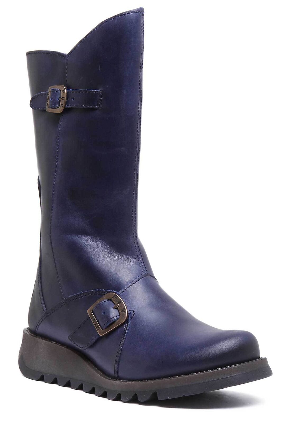 FLY London LINEA Mes 2 LINEA London STIVALI DONNA STIVALI LINEA IN PELLE MATT BLU   004201