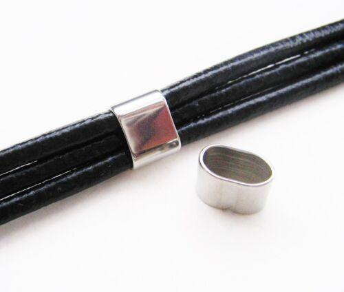 Edelstahl Spacer Verbinder für Bänder 8x10mm 2//10 Stück SERAJOSY Schiebeperle