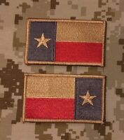 Subdued Brown Texas State Flag Patch