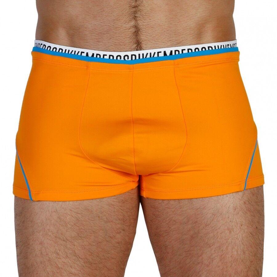 BIKKEMBERGS & 039;Logo Stretch Tape& 039;  Para hombre Natación baño boxeador troncos Naranja  M nuevo con etiquetas   bienvenido a elegir
