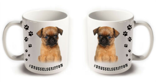 BRUSSELS GRIFFON Dog Breeds Hashtag Mugs Animal Funny Cute Pet Gifts Coffee Tea