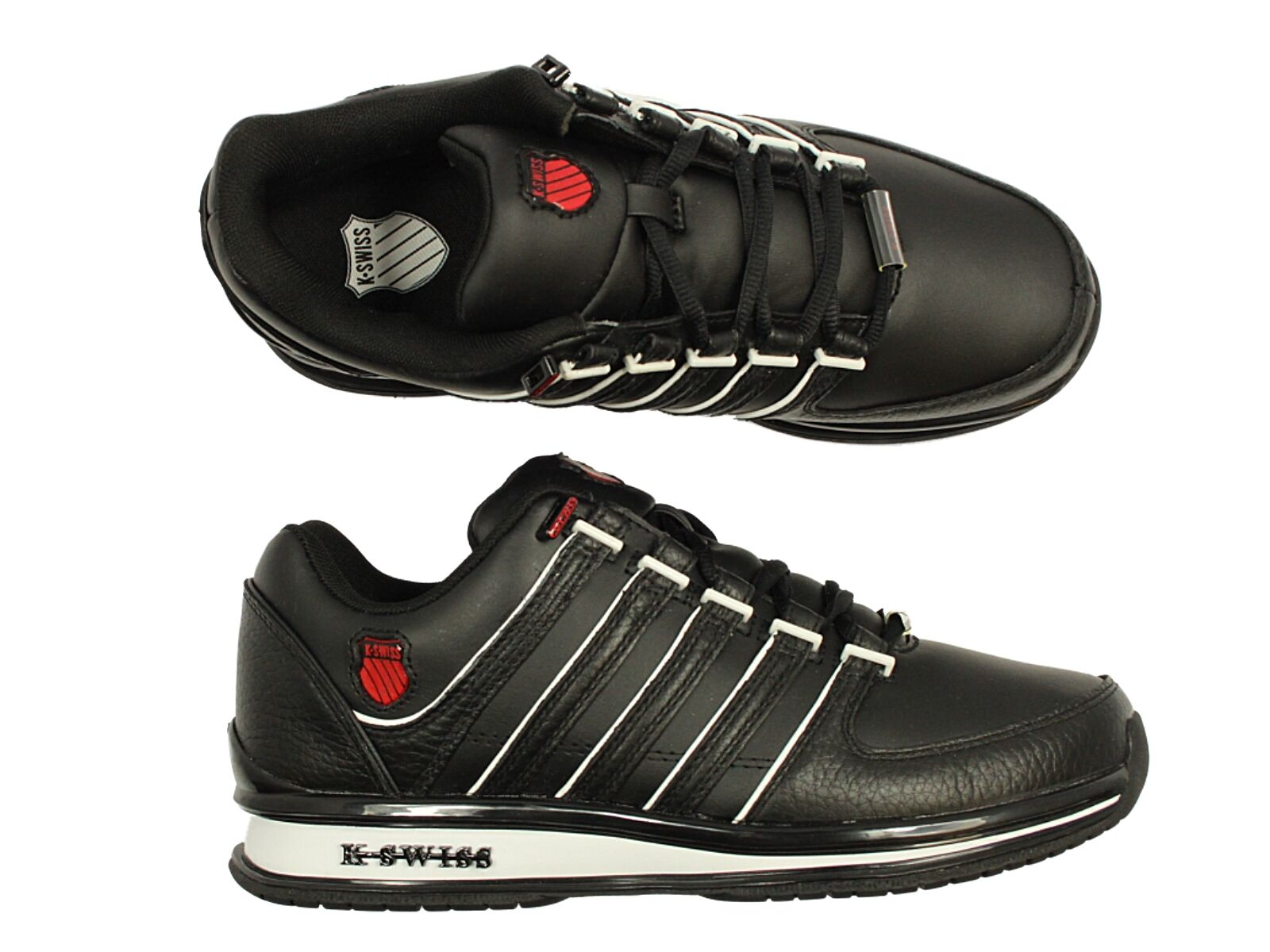 K SWISS BLACK BNWT TRAINERS RINZLER LACE UP DESIGNER Weiß BLACK SWISS GREY CLEARANCE PRICE 14d65c
