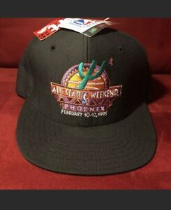 1995-NBA-All-Star-Weekend-Arizona-PHX-Black-SnapBack-Hat-NWT-Rare-Collectible