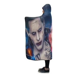 Harley Quinn Wearable Throw Wrap Hooded Blanket 80x56Inch