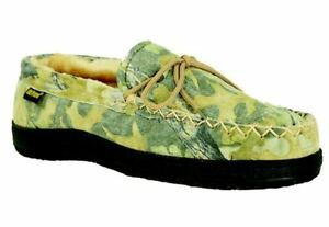 cbc3980e2be82 Old Friend Men's Breathable Camouflage Moccasin Slippers 421124 | eBay