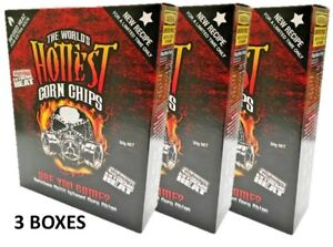 3-BOXES-of-The-World-039-s-Hottest-Corn-Chips-SUPER-XXX-HOT-Chilli-Seed-Bank-sauce