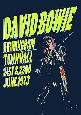 DAVID BOWIE ZIGGY STARDUST - CONCERT POSTER BIRMINGHAM 21st & 22nd JUNE 1973 (A3