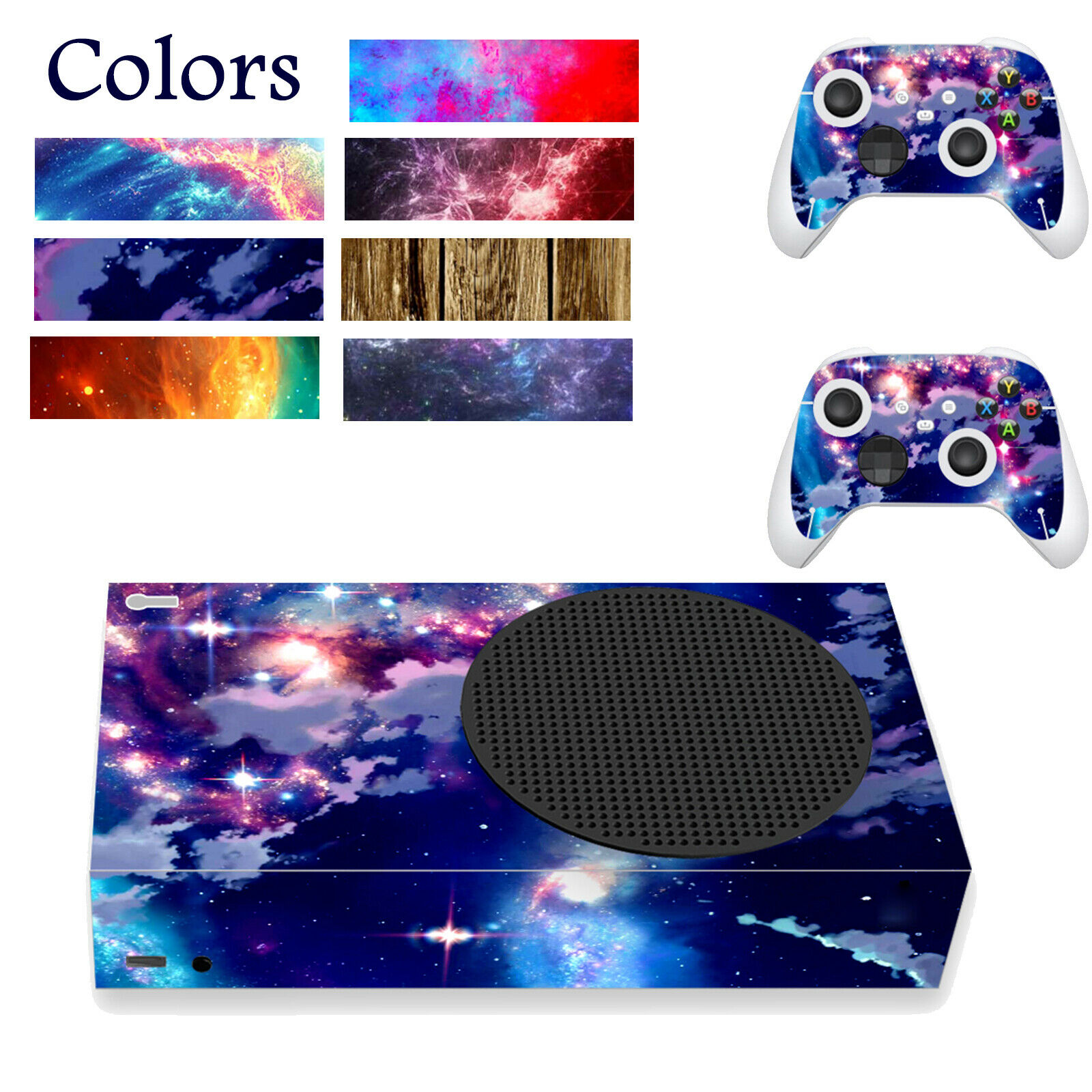 Skin Sticker Colorful Game Console Decorative for Xbox Series S Game Console BEU