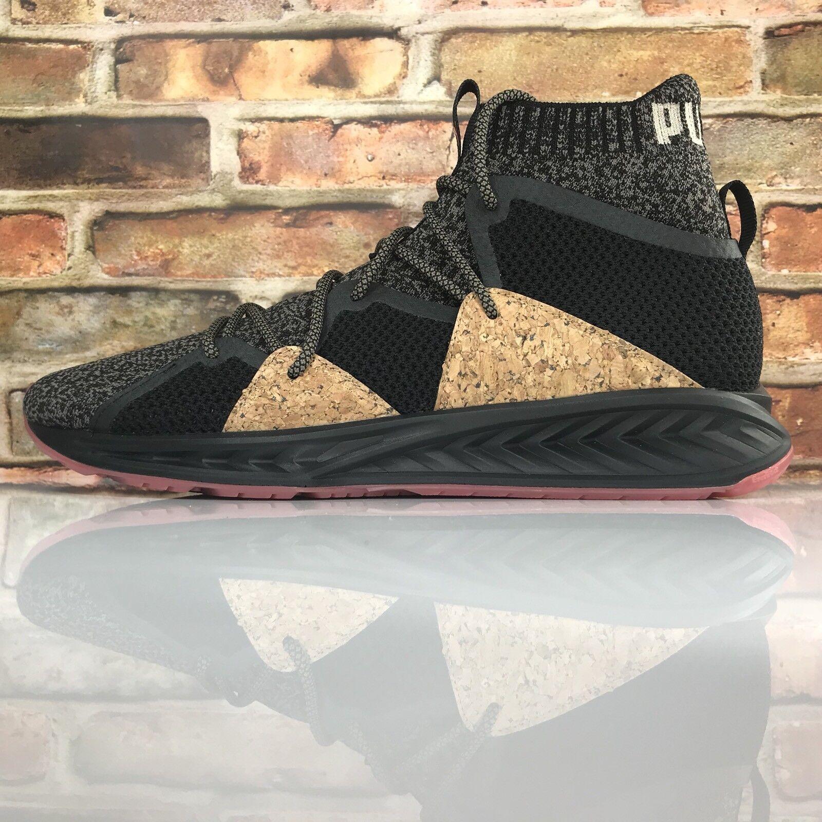 PUMA Limited Edition Ignite Evoknit Black Cork Mens 11.5 Training Running shoes
