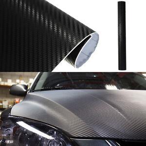 Negro-3D-Pegatina-Fibra-de-Carbono-Vinilo-Accesorio-Practico-Coche-30