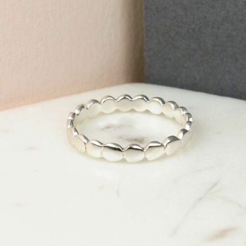 925 STERLING SILVER BAND OF CIRCLES RING GIFT-PACKAGING AVAILABLE