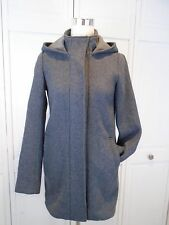 Women's Theory Gray Wool Hooded Peacoat Size P