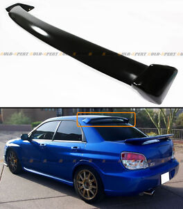 GLOSSY PAINTED BLK OE STYLE REAR ROOF SPOILER WING FOR 02-07 SUBARU