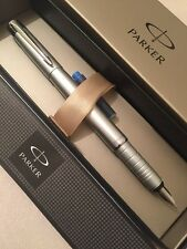 NEW PARKER ESPRIT SILVER CT MEDIUM NIB TELESCOPIC FOUNTAIN PEN-GIFT BOX