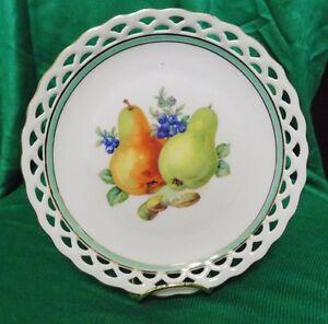 Lovely Hand Painted German Winterling Bavarian Fruit Plate