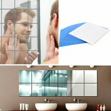 New Arrival 9Pcs Square Mirror Tile Wall Stickers 3D Decal Mosaic Home 15*15cm