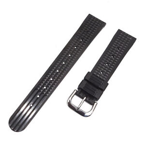 20mm-Rubber-Waffle-Watch-Band-Strap-for-Seiko-6105-6217-6159-Diver-Watch-UK