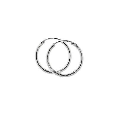PAAR 925 Sterling Silber Creolen Ohrringe Ohrschmuck Rhodiniert 70mm 7423