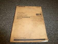 Caterpillar Cat Th103 Telehandler Telescopic Forklift Parts Catalog Manual 3054