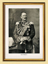 KAISER WILHELM II. PORTRÄT ORDEN DEUTSCHES REICH FAKSIMILE 42 im Goldrahmen
