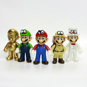 Details About 5 Cute Super Mario Bros Luigi Mario Action Figures Toys Doll Gift Us Seller