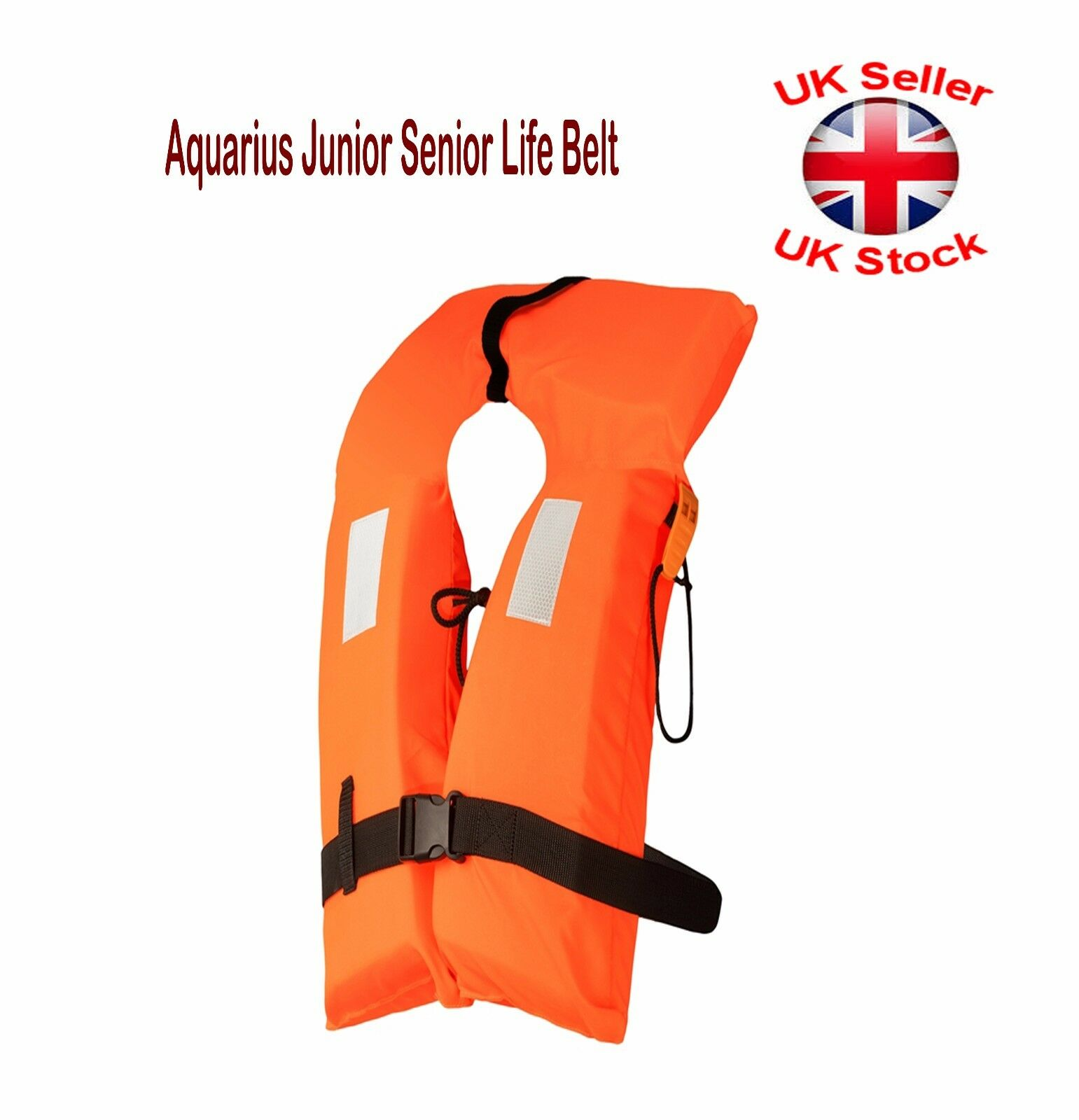 Aquarius Junior Senior Life Belt Buoyancy 100N PFD With Whistle ISO-4 CE 2 Sizes