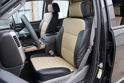 CHEVY SILVERADO 1500 2500 3500 2014-2019 IGGEE S.LEATHER CUSTOM SEAT COVER 13COL