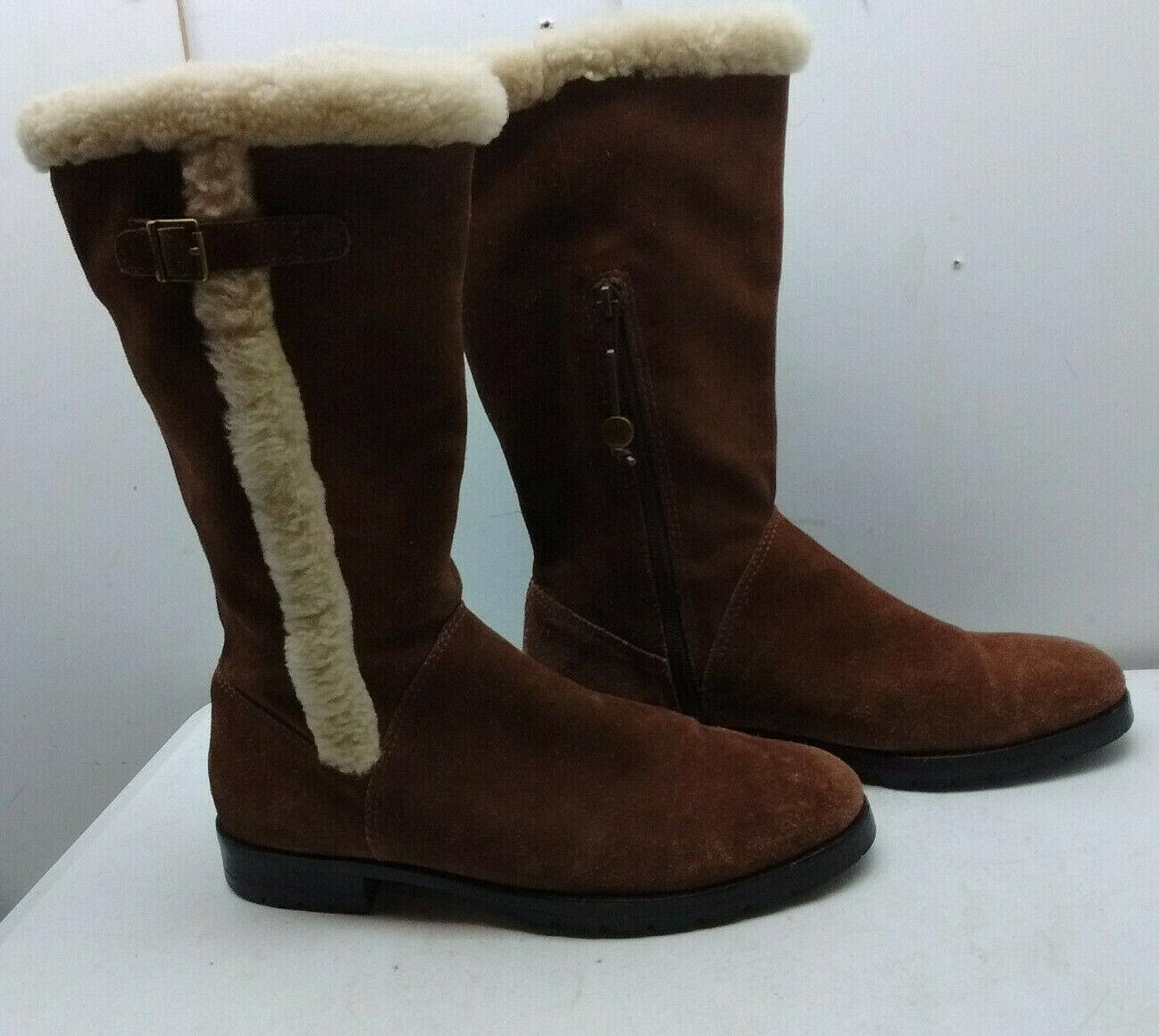 molte concessioni Ralph Ralph Ralph Lauren Marrone Suede Mid Calf Tall Zip Buckle Winter avvio Donna  scarpe 9.5B  Felice shopping