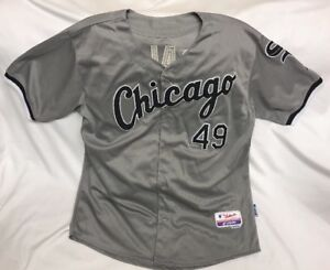 low priced a0d05 df135 Details about Chris Sale #49 Authentic Majestic Chicago White Sox Away  Jersey Sz 52 Cool Base
