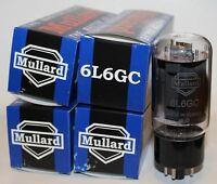 Matched Quad (4 tubes) Mullard 6L6GC Reissue tubes, NEW !