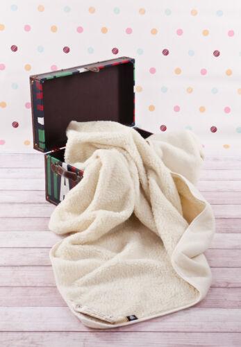 100/% Merino Wool Gitterbett Junior Decke Woolmark 120//150cm Einzeln Natur