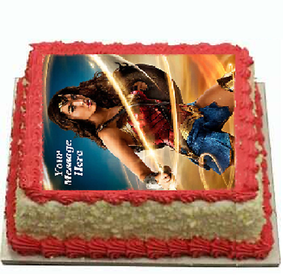 WONDER WOMAN REAL EDIBLE ICING  CAKE TOPPER PARTY IMAGE FROSTING SHEET