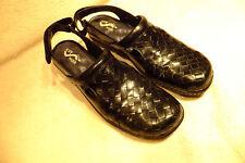Soft Walk Women's Black Woven Leather Santa Cruz Comfort Shoes Size 7.5M So Nice