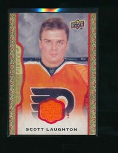 2014-15-UD-Masterpieces-Memorabilia-Framed-Red-Cloth-67-Scott-Laughton-77-85