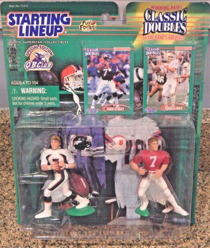 Starting Lineup SLU 1998 QB Club John Elway NFL Classic Doubles