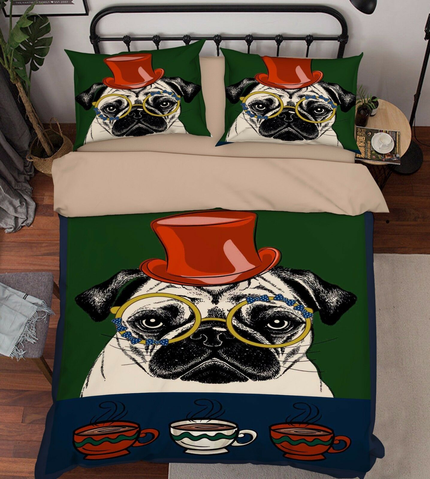 3D Painted Dog 907 Bed Pillowcases Quilt Duvet Cover Set Single Queen UK Summer