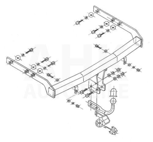 Für Ford Galaxy MK I FL 00-06 Anhängerkupplung starr+E-Satz 13p spez ABE