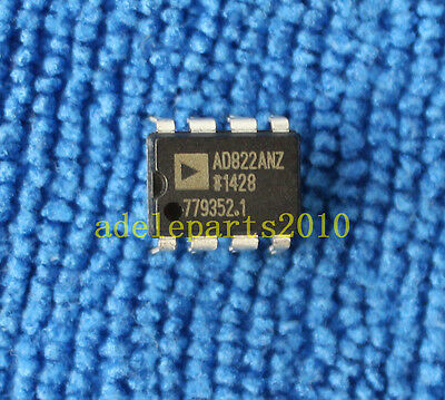 5pcs AD822ANZ AD822AN OP AMP IC ANALOG DEVICES DIP-8