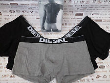 DIESEL Boxer Shorts UMBX-ROCCO Black/Grey Stretch Cotton Boxer Trunk 3p/p BNIB