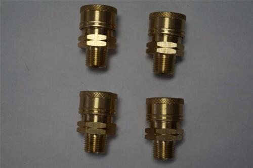 BRASS 3//8 MNPT PRESSURE WASHER QUICK CONNECT COUPLER SET OF 4 85.300.108