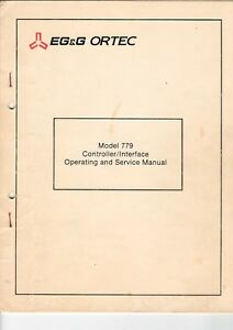 Service Manual Model 779 Controller/interface Methodisch Eg&g Ortec B7463