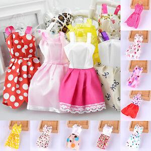 10x-Mariage-Jouet-Vetements-Tutu-Princesse-Robes-Pour-Poupee-Barbie