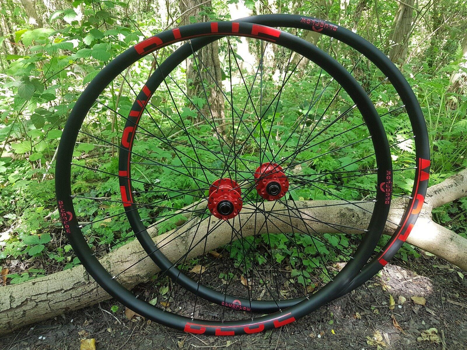 bluee Flow BF37 31 all mountain carbon wheels 27.5 29 Hope Pro 4 mountain bike AM